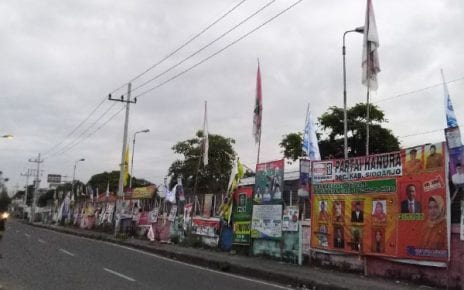 Galeri Jalanan Baliho Para Caleg Peserta Pemilu 2019