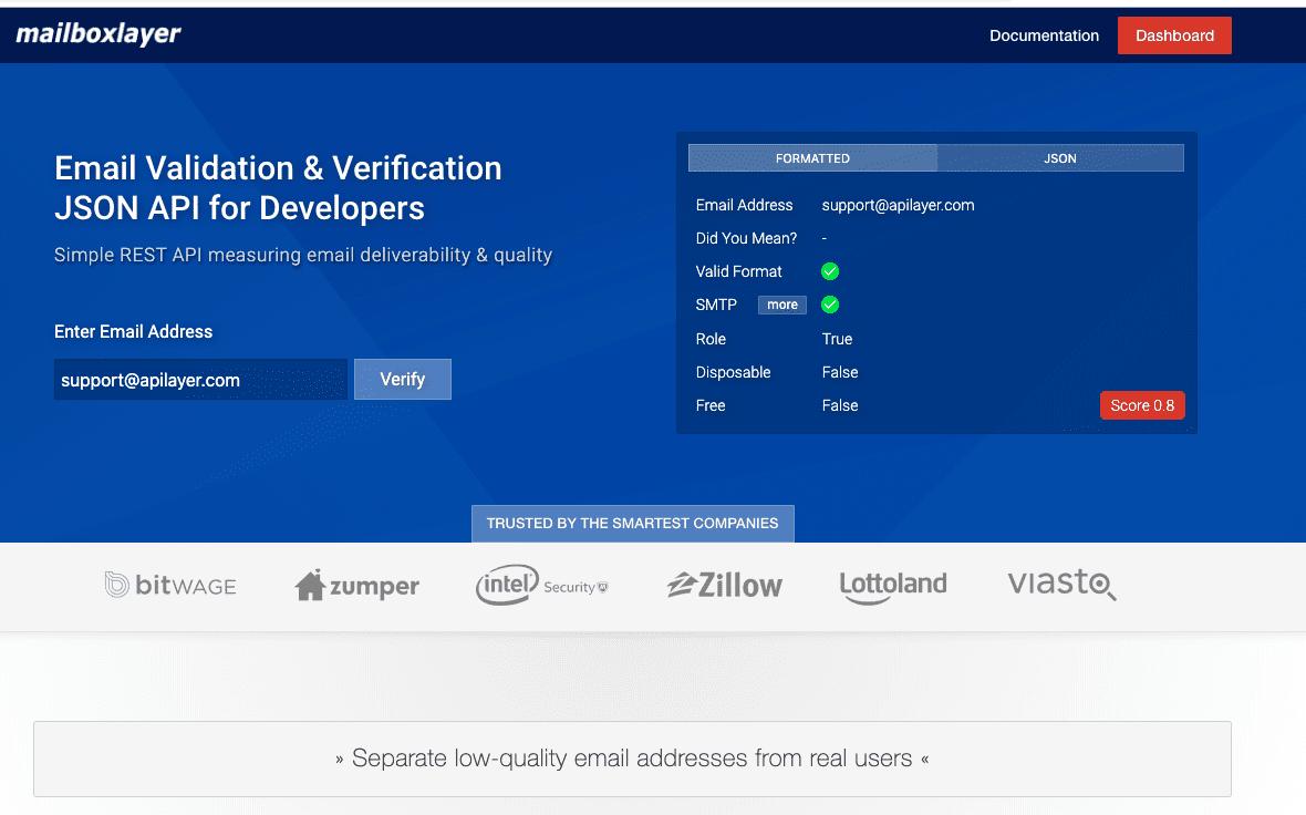 Validasi Email dengan Layanan mailboxlayer.com