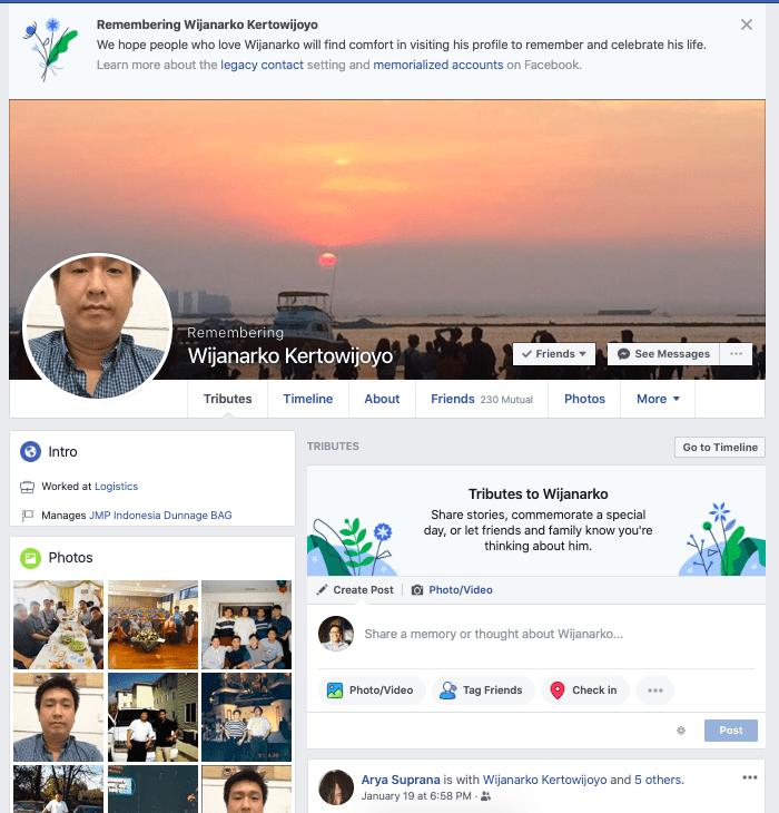 memorilization facebook